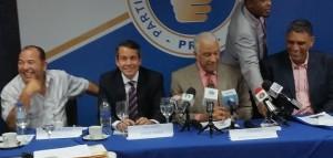 César Cedeño, Orlando Jorge Mera, Andrés Bautista y Jesús Vásquez, dirigentes del PRM.