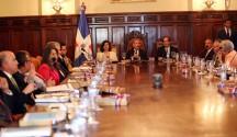 El presidente Danilo Medina encabeza reunión del Consejo de Gobierno en Palacio Nacional.