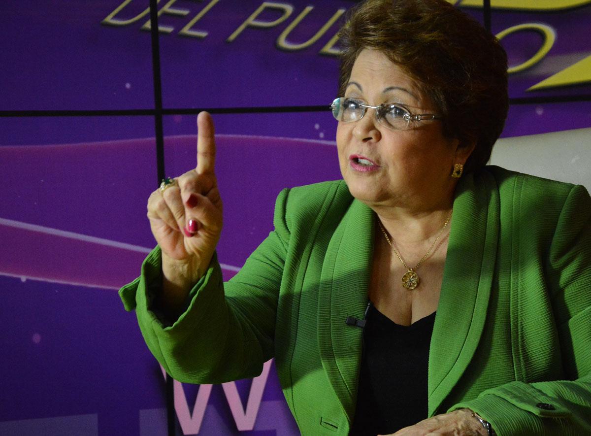 Alejandrina Germán, dirigente del PLD.