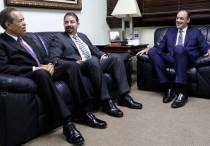 Freddy Domínguez, Oscar Peña y José del Castillo Saviñón.