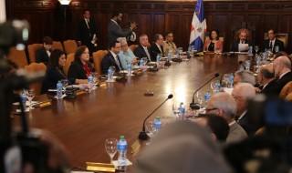 Danilo Medina preside el Consejo de Ministro.