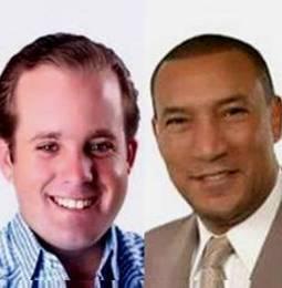 José Ignacio Paliza y Santiago Zorrilla, senadores del PRM.