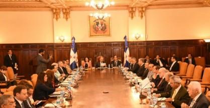 Medina encabeza reunión del Consejo de Ministros.