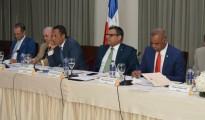 Miembros de la Comisión del Senado que evalúa aspirantes de JCE.