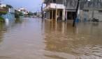 Sectores inundados en María Trinidad Sánchez.