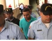 Franklin Padilla detenido en el Palacio de Justicia de Ciudad Nueva.