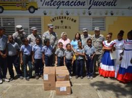 Actividad realizada por la Comandancia de la Fuerza Aérea de República Dominicana en Puerto Plata.