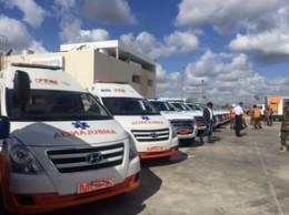 Ambulancias que serán utilizadas en operativo de Semana Santa.