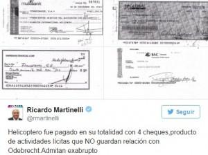 Cheques presentados por Ricardo Martinelli.