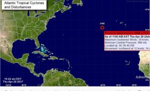 Depresión tropical.