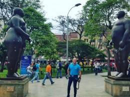 El periodista Salvador Batista en Medellín, Colombia.