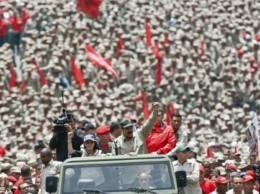 El presidente Nicolás Maduro encabezó un desfiles de militares en Venezuela.