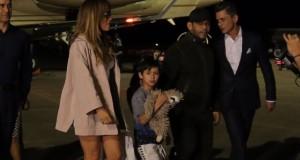 Jennifer López a su llegada al país.