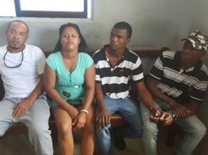 Los supuestos atracadores de San Cristóbal.