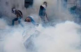 Manifestación violenta en Venezuela.