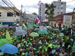 Participantes en Marcha Verde en San Franisco de Macorís.