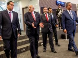 Martín Torrijos, Ernesto Samper, José Luis Zapatero y Leonel Fernández.