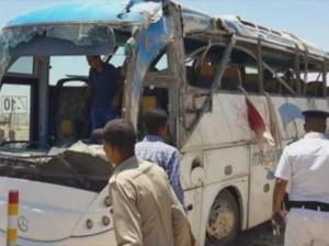 Autobús atacado por hombres armados en Egipto.