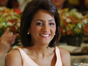 Cándida Montilla de Medina, primera dama.