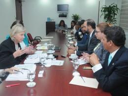 Comisión de diputados reunida con representantes de UNICEF.