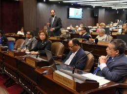 Diputados del PLD en sesión.