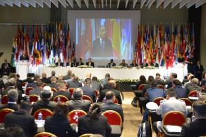 El presidente Danilo Medina habla en actividad sobre las drogas en la región.