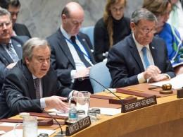 El secretario general de la ONU, António Guterres, en el Consejo de Seguridad.