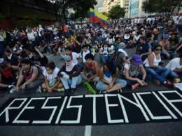 Estudiantes participaron en protestas en Caracas.