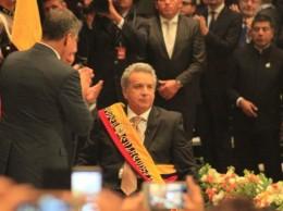 Lenín Moreno cuando jura como Presidente de Ecuador.