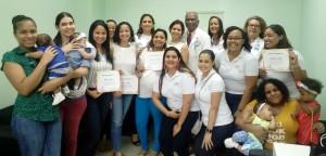 Mujeres certificadas por el Banco de Leche de la Maternidad La Altagracia.