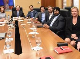 Reunión de las autoridades del Banco Central con inversionistas extranjeros.