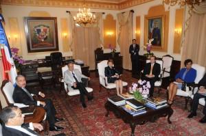 Miembros del Consejo de la Magistratura en reunión en el Palacio Nacional.