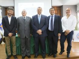 """Luis Ernesto Camilo y otros particpantes en Seminario Taller sobre """"Fundamentos de Accesibilidad y Diseño Universal en la Facilitación del Transporte Aéreo,"""