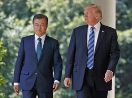 Presidente de Corea del Sur, Moon Jae-in, y Donald Trump se reunieron este viernes.