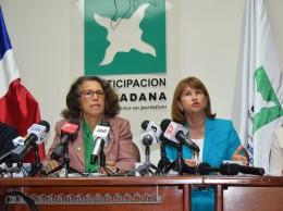 Miguel Collado, Marisela Duval, Rosalía Sosa y Josefina Arvelo, dirigentes de Participación Ciudadana.