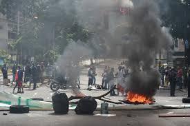 Se han producido algunos incidentes en paro general en Venezuela.