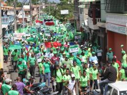 Miembros de la Marcha Verde recorrieron calles de Cotuí,en la provincia Sánchez Ramírez.