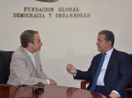 José Luis Rodríguez Zapatero y Leonel Fernández.