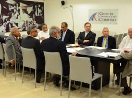 Miembros de la Sociedad Dominicana de Diarios en asamblea ordinaria.