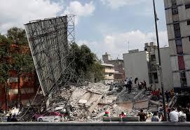 Varios edificios fueron destruidos en México por terremoto.