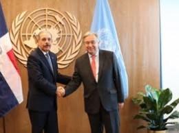 Danilo Medina y Antonio Guterres.