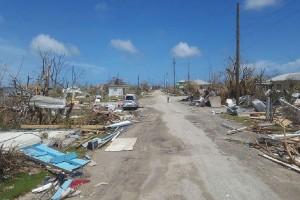 Daño del huracán Irma en Barbuda.
