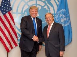 Donald Trump y António Guterres.