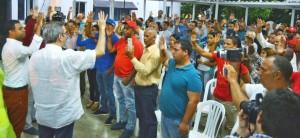 Luis Abinader juramenta movimiento Rescate, de La Vega.