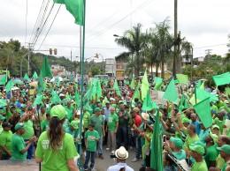 Manifestación de la Marcha Verde frente a la OMSA.