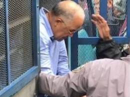 Manuel Rivas cuando es trasladado a la Fiscalía de Santo Domingo Oeste.