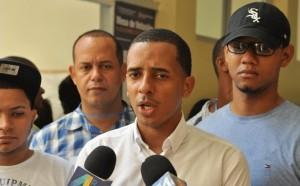 Yimi Zapata tras ganar la presidencia de la Federación de Estudiantes Dominicanos.