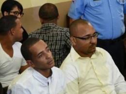 Yimi Zapata y otros imputados en la audiencia.