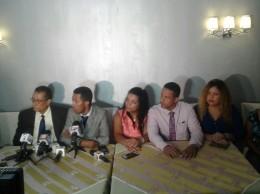 Clemente Terrero acompañado de algunos de sus seguidores.