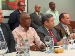 Dirigentes de los partidos que integran el Bloque Progresista.